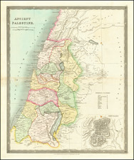 Holy Land Map By Henry Teesdale