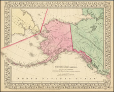 Northwestern America Showing The Territory Ceded By Russia To the United States By Samuel Augustus Mitchell Jr.
