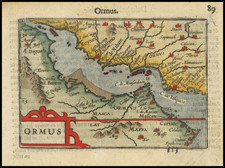 Middle East Map By Petrus Bertius