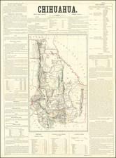Texas, Southwest and Mexico Map By Antonio Garcia y Cubas