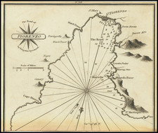 Corsica Map By William Heather