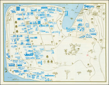 """Pictorial Maps, San Diego and Other California Cities Map By Priscilla """"Pat"""" DeVore"""