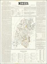 Mexico Map By Antonio Garcia y Cubas