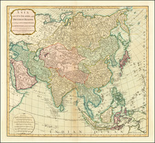Asia Map By Laurie & Whittle