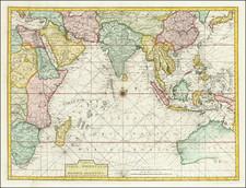 Tabula Indiae Orientalis et Regnorum Adjacentium J. Van Braam et G. onder de Linden . . .  By Francois Valentijn