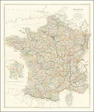 France Map By John Arrowsmith