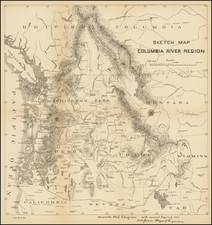 Idaho, Montana, Oregon and Washington Map By United States Bureau of Topographical Engineers