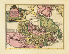 New England, Midwest and Canada Map By Pieter van der Aa