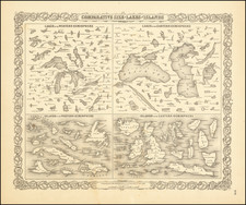 Midwest and Curiosities Map By Joseph Hutchins Colton