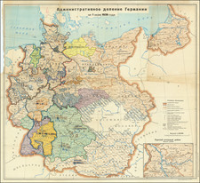 World War II and Germany Map By Soviet Occupation Forces Group