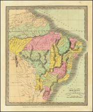 Brazil, Guianas & Suriname and Paraguay & Bolivia Map By David Hugh Burr