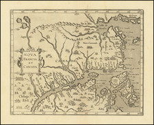 Canada and Eastern Canada Map By Cornelis van Wytfliet