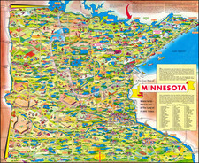Minnesota and Pictorial Maps Map By Don Bloodgood