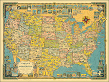 United States and Pictorial Maps Map By Ernest Dudley Chase