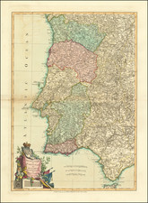 Portugal Map By Laurie & Whittle / John Lodge