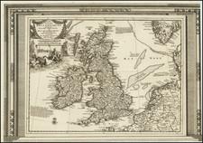 British Isles Map By Pieter van der Aa