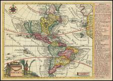 California as an Island and America Map By Johann George Schreiber