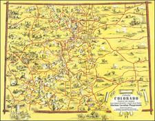 Colorado, Colorado and Pictorial Maps Map By Ray Schmidt