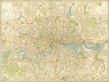 London Map By John Bartholomew