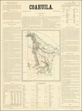 Texas and Mexico Map By Antonio Garcia y Cubas