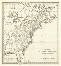 United States and American Revolution Map By Michel Rene Hilliard d'Auberteuil