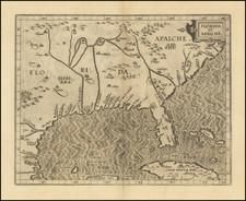 Florida, South, Southeast, Texas and Caribbean Map By Cornelis van Wytfliet