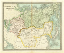 China and Russia in Asia Map By Henry Teesdale