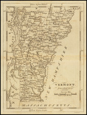 Vermont, from actual Survey By Mathew Carey