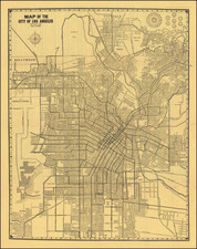 Los Angeles Map By James P. Chadwick
