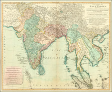 India and Southeast Asia Map By Laurie & Whittle / James Rennell