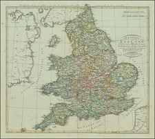 England and Wales Map By Adolf Stieler