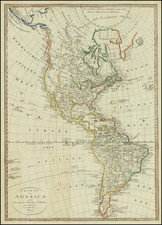America Map By Franz Pluth