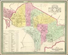 Mid-Atlantic, Washington, D.C. and Southeast Map By Thomas, Cowperthwait & Co.