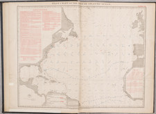 Atlantic Ocean and Atlases Map By U.S. Hydrographical Office