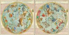Celestial Maps Map By Nicolas de Fer / Louis Charles Desnos