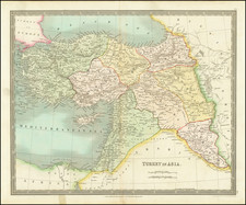 Turkey and Turkey & Asia Minor Map By Henry Teesdale