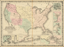 United States and Civil War Map By Alvin Jewett Johnson  &  Ross C. Browning