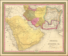 Middle East, Arabian Peninsula and Persia Map By Samuel Augustus Mitchell