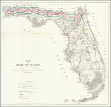 Florida Map By Julius Bien