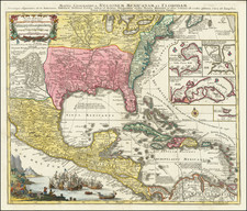 United States, South, Southeast and Caribbean Map By Tobias Conrad Lotter