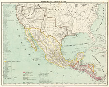 Texas, Southwest, Arizona, New Mexico, Rocky Mountains, Mexico and California Map By Carl Flemming