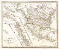 Alaska, Hawaii, North America and Canada Map By Christian Gottlieb Reichard