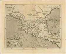 Texas and Mexico Map By Cornelis van Wytfliet