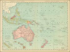 Australia & Oceania and Oceania Map By Rand McNally & Company