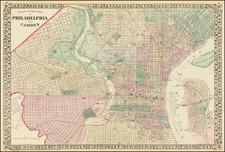 Pennsylvania and Philadelphia Map By Samuel Augustus Mitchell Jr.