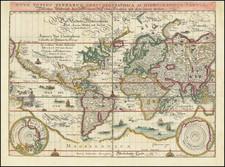 Nova Totius Terrarum Orbis Geographica Ac Hydrographica Tabula By Matthaus Merian