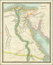 Egypt Map By Henry Teesdale