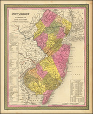New Jersey Reduced From T. Gordon's Map. By H.S. Tanner.  1847  By Samuel Augustus Mitchell