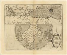 Polar Maps, Argentina, Chile, South Africa and Australia Map By Cornelis van Wytfliet