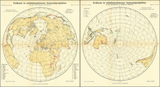 World Map By Augustus Herman Petermann
